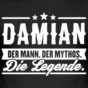 Man Myth Legend Damian - Slim Fit T-skjorte for menn