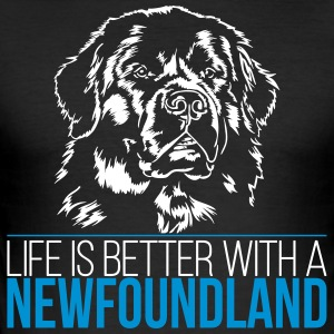 Life is better with a NEWFOUNDLAND - Newfoundland - Men's Slim Fit T-Shirt