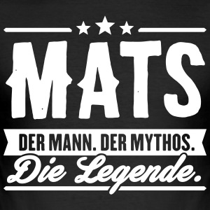 Man Myte Legend Mats - Herre Slim Fit T-Shirt
