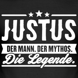 Man Myth Legend Justus - Men's Slim Fit T-Shirt