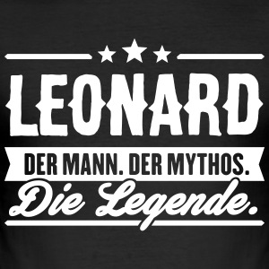 Man Myth Legend Leonard - Slim Fit T-skjorte for menn