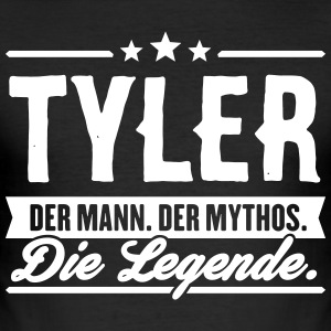 Man Myth Legend Tyler - Slim Fit T-skjorte for menn