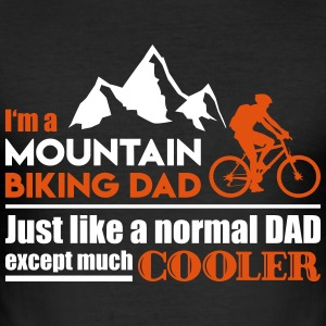 Mountainbike pappa - Slim Fit T-shirt herr