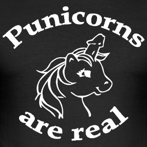 Punicorn sind real - Männer Slim Fit T-Shirt
