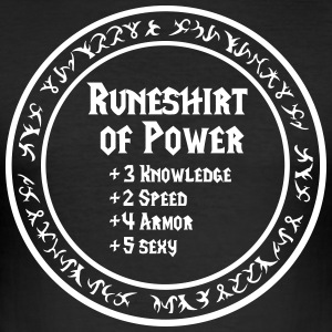 Runeshirt of Power - Männer Slim Fit T-Shirt