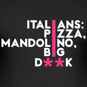 Italiener: Pizza, Mandoline ... - Männer Slim Fit T-Shirt