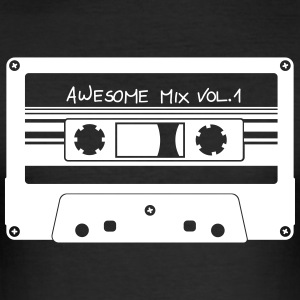 "Kassett ""Awesome Mix"" - Slim Fit T-shirt herr"
