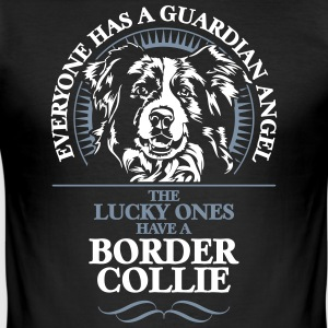 GUARDIAN ANGEL BORDER COLLIE - Men's Slim Fit T-Shirt