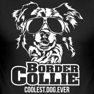 Border Collie kuleste hund - Slim Fit T-skjorte for menn