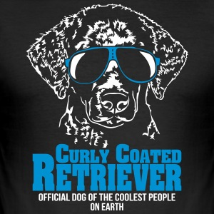 Curly Coated Retriever coolest people - Männer Slim Fit T-Shirt