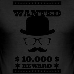Wanted Dead or Alive - Herre Slim Fit T-Shirt