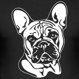 FRENCH BULLDOG PORTRAIT - Men's Slim Fit T-Shirt