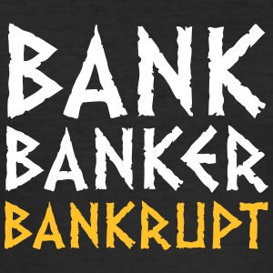 Bank Banker Konkurs - Herre Slim Fit T-Shirt