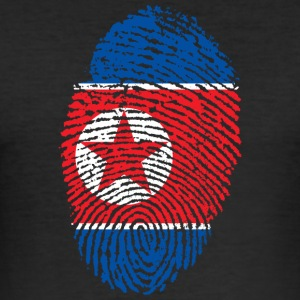 North Korea fingerprint - Men's Slim Fit T-Shirt