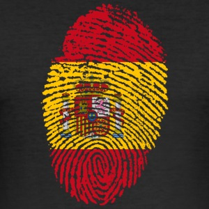 Fingerprint - Spanien - Männer Slim Fit T-Shirt