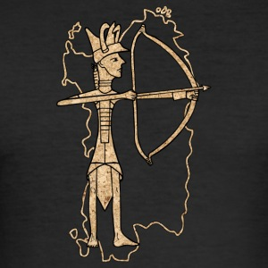 Bronze archer with cork print - Men's Slim Fit T-Shirt