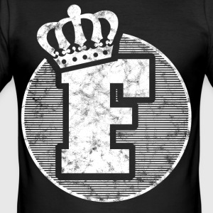 Stylish letter F with crown - Men's Slim Fit T-Shirt