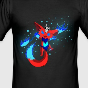 Mysterious fire monster - Men's Slim Fit T-Shirt