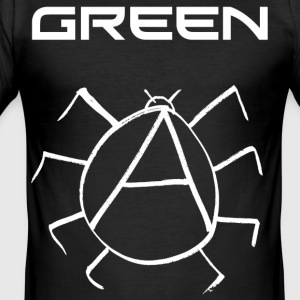 Green Anarchy Beetle - Men's Slim Fit T-Shirt