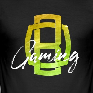 OB Gaming / hvit skrift - Slim Fit T-skjorte for menn