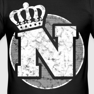 Stylish letter N with crown - Men's Slim Fit T-Shirt
