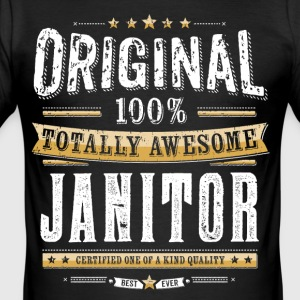 Original 100% Awesome Janitor - Men's Slim Fit T-Shirt