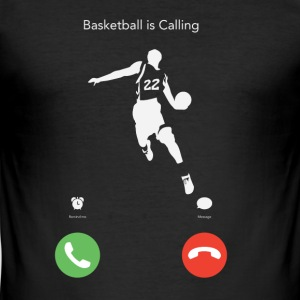 Basketball ruft! - Männer Slim Fit T-Shirt