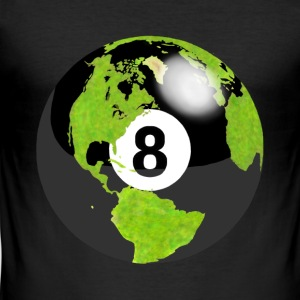 8-ball planeten jorden kloden globus jord - Slim Fit T-skjorte for menn