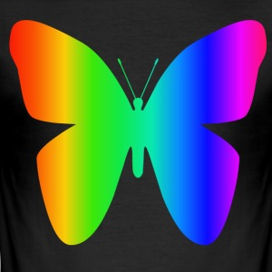 Rainbow Butterfly - Men's Slim Fit T-Shirt