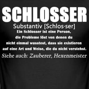 Schlosser - Schlosser Definition - Männer Slim Fit T-Shirt