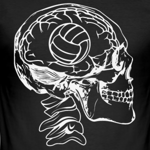 Volleyball i hovedet - Herre Slim Fit T-Shirt