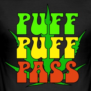 Puff Puff Pass - Herre Slim Fit T-Shirt