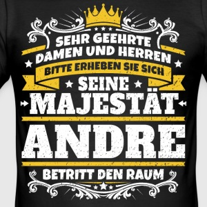 His Majesty Andre - Men's Slim Fit T-Shirt