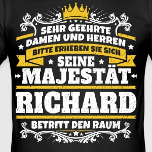 Hans Majestet Richard - Slim Fit T-skjorte for menn
