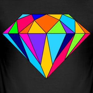färgrik diamant - Slim Fit T-shirt herr