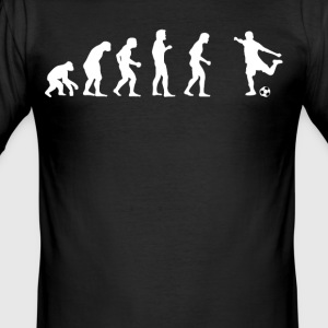 Human evolution football - Men's Slim Fit T-Shirt