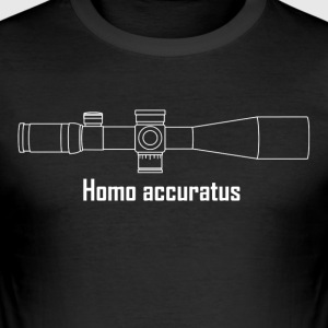 Homo accuratus hvit - Slim Fit T-skjorte for menn