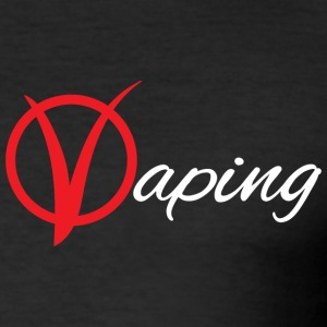 Vaping V - Männer Slim Fit T-Shirt