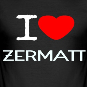 I LOVE ZERMATT - Men's Slim Fit T-Shirt