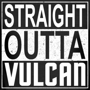 Straight Outta Vulcan (lys) - Slim Fit T-skjorte for menn