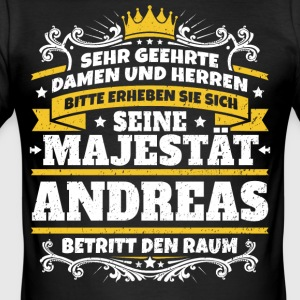 His Majesty Andreas - Men's Slim Fit T-Shirt