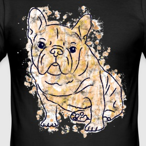 French Bulldogge Frenchie dog gift gold - Men's Slim Fit T-Shirt