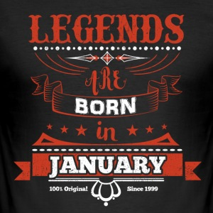 Legends January born birthday gift Young - Men's Slim Fit T-Shirt