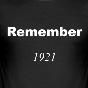 Remember 1921 White T-Shirt - Men's Slim Fit T-Shirt