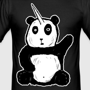 Pandicornio - Männer Slim Fit T-Shirt
