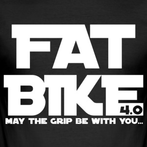 FATBIKE - MAY THE GRIP BE WITH YOU 1 - Männer Slim Fit T-Shirt