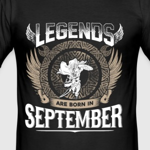 Legends September födelsedag - Slim Fit T-shirt herr