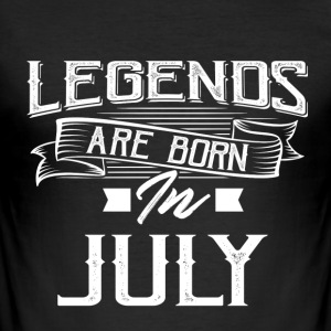 The month when the Legends are born. - Men's Slim Fit T-Shirt