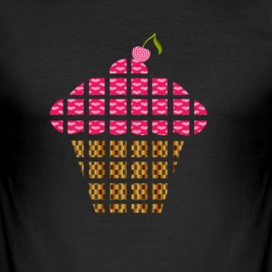cupcake - Slim Fit T-skjorte for menn