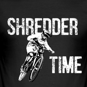 shredder tid sykkel - Slim Fit T-skjorte for menn
